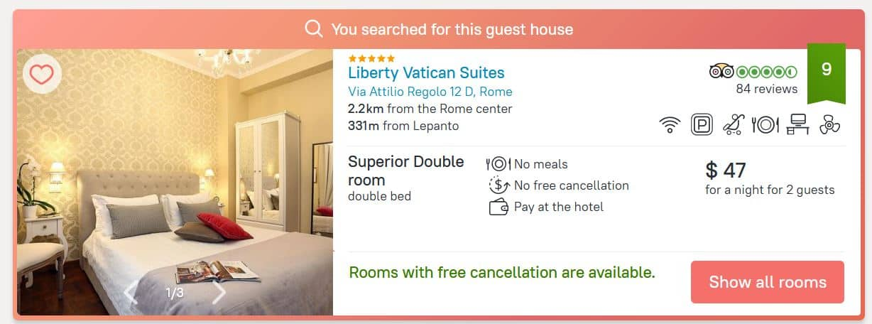rome hotel deal