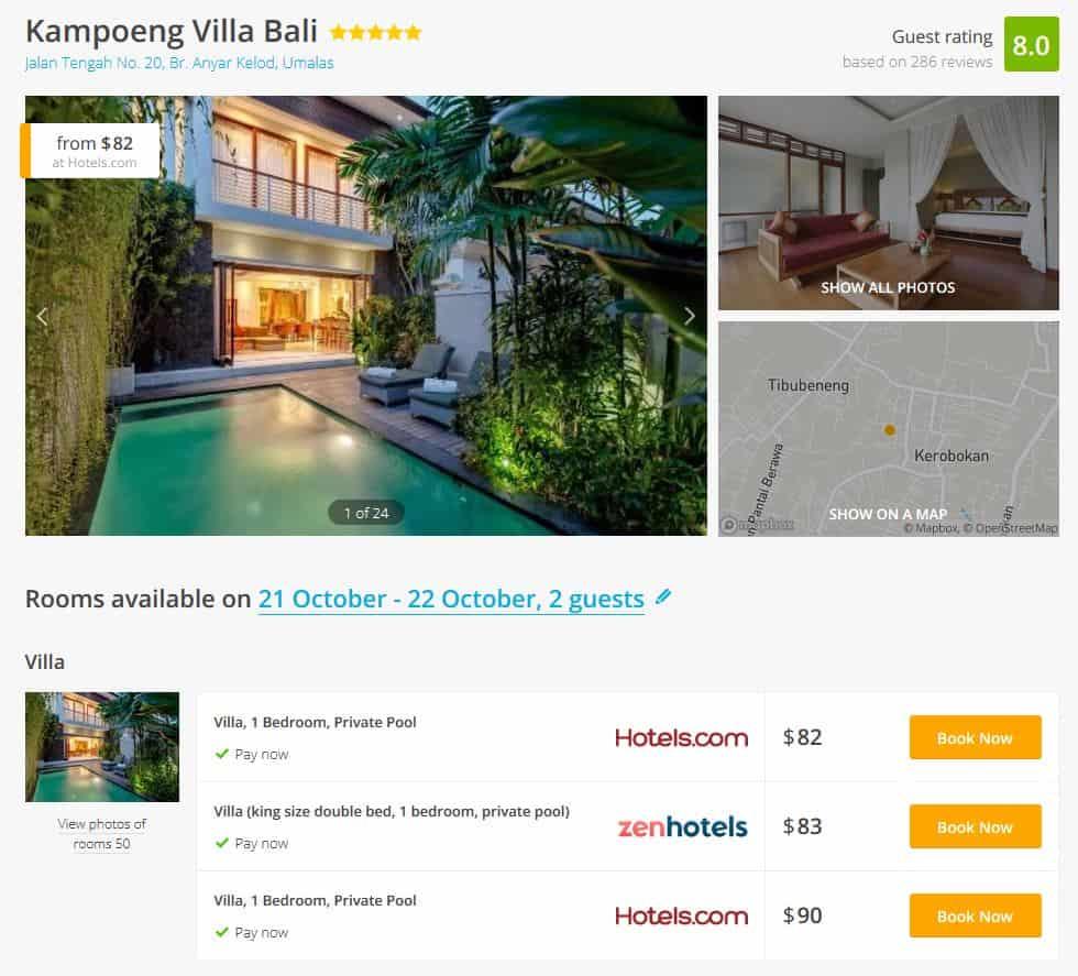 Bali Villa Deal