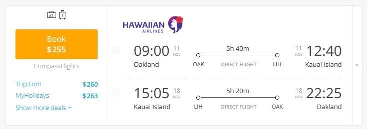 Hawaii Flight Deal