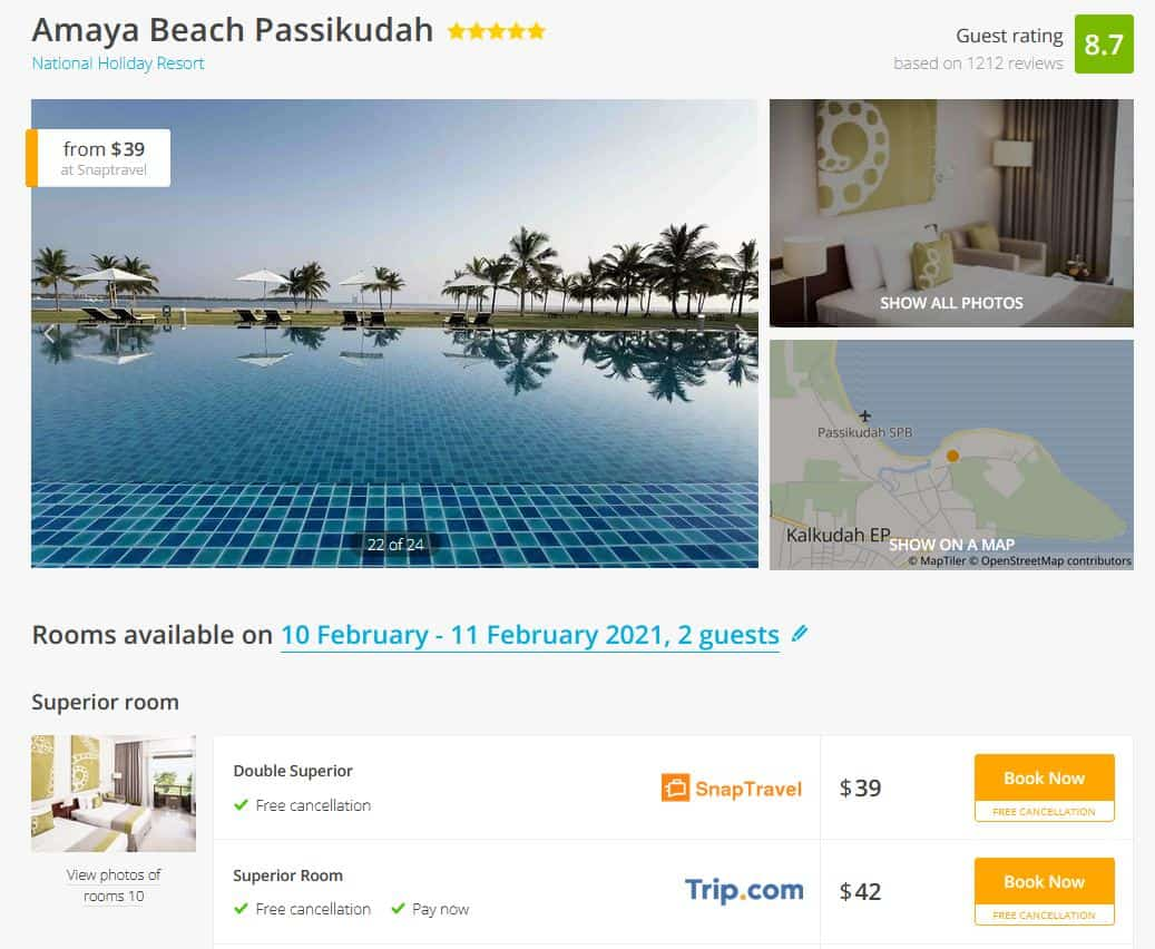Sri Lanka Hotel Deal