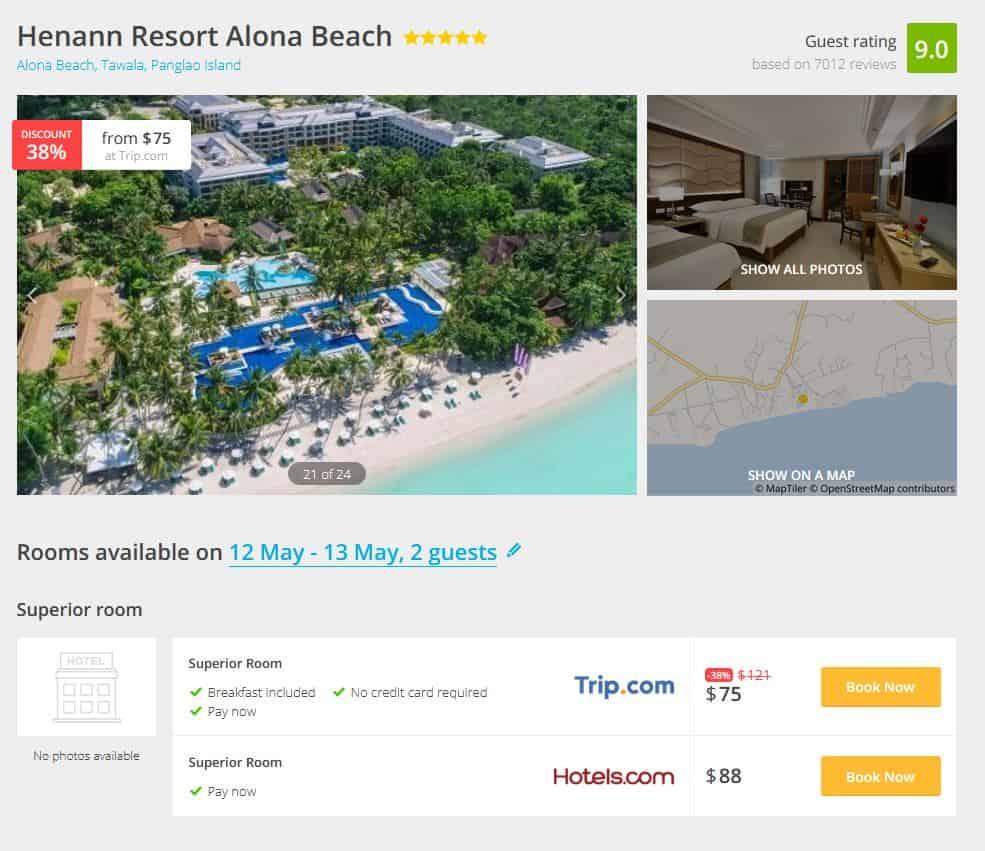 Alona Beach Hotel Deal