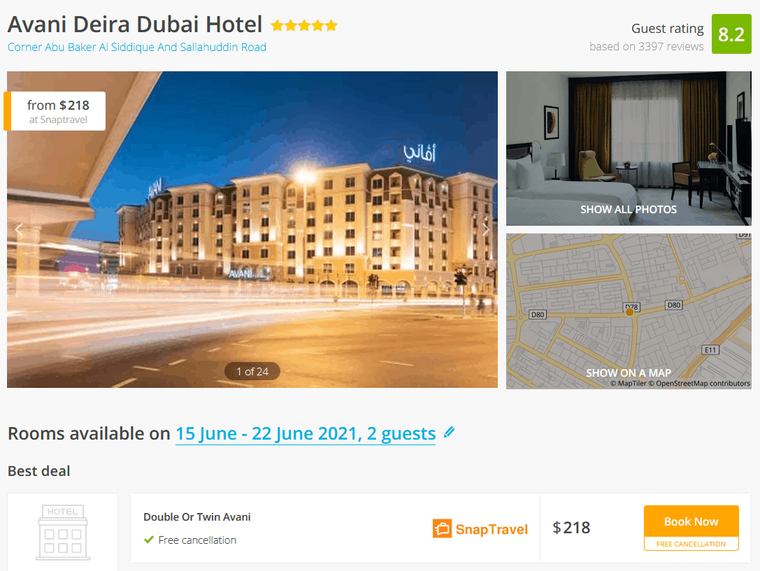 Avani Hotel Dubai