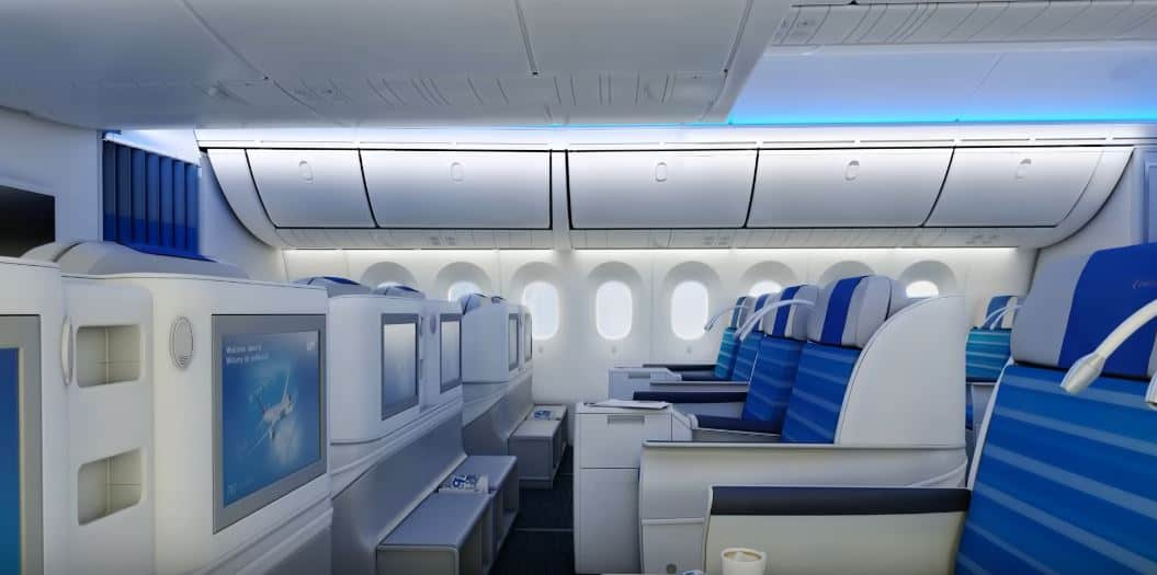 LOT Business Class Dreamliner