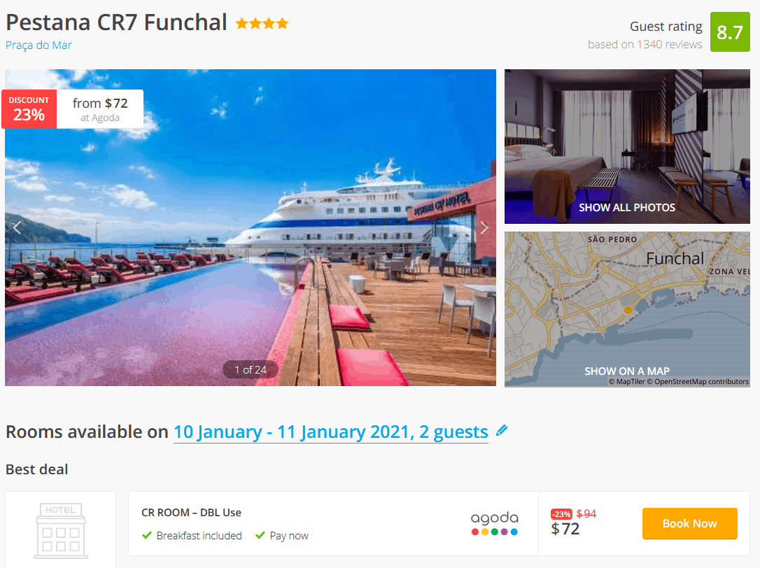 Madeira Hotel Deal
