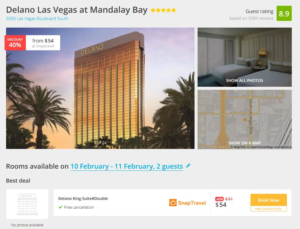 Delano Las Vegas Deal