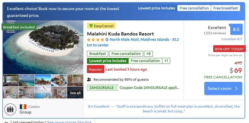 Maldives Deal.