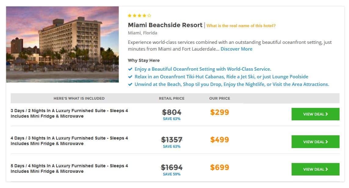 Miami Hotel Deal