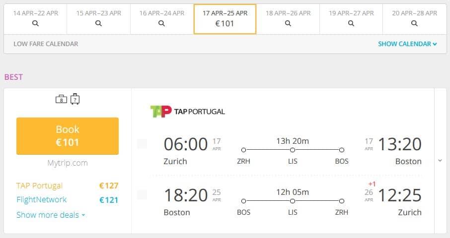 To Boston